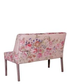 Aubusson Floral upholstered dining sofa bench - 6 lengths